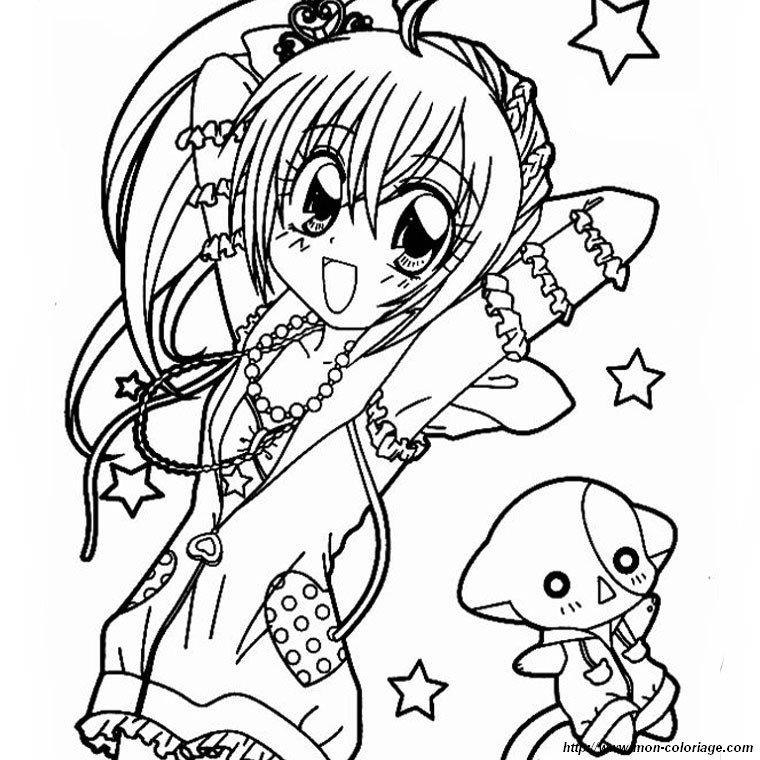 Ausmalbilder Manga Bild Kilari Mit Seiner Katze