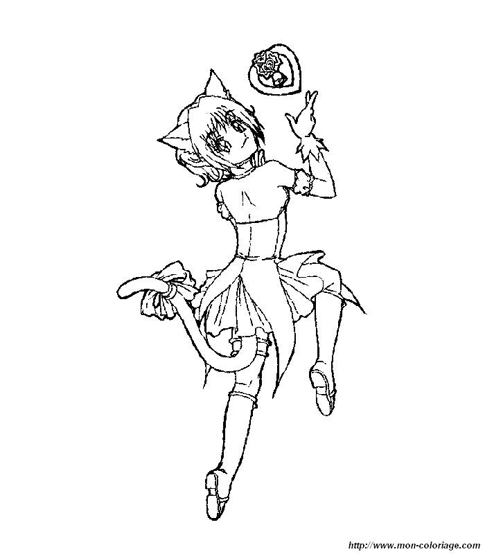 Ausmalbilder manga bild mew mew transformation - Mewtwo pagina da colorare ...