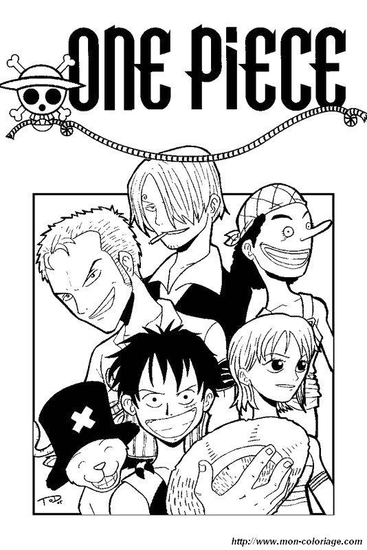 Ausmalbilder Manga Bild One Piece Sie Sind Zusammen