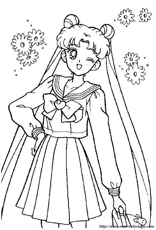 ausmalbilder manga  bild sailor moon ein hubsches kleid
