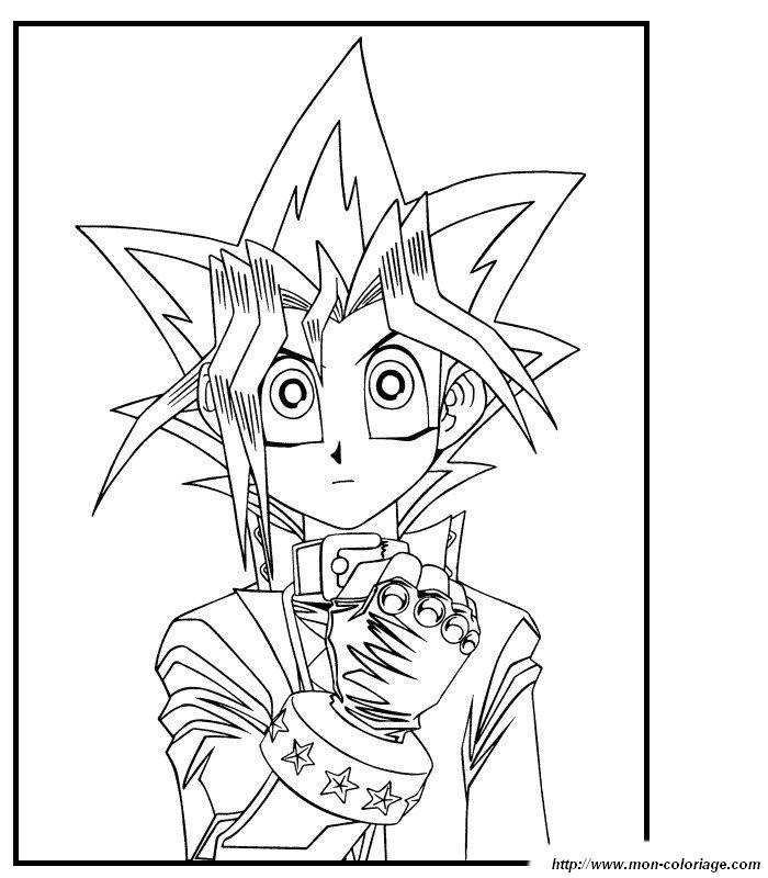 Ausmalbilder Manga Bild Yu Gi Oh Karten