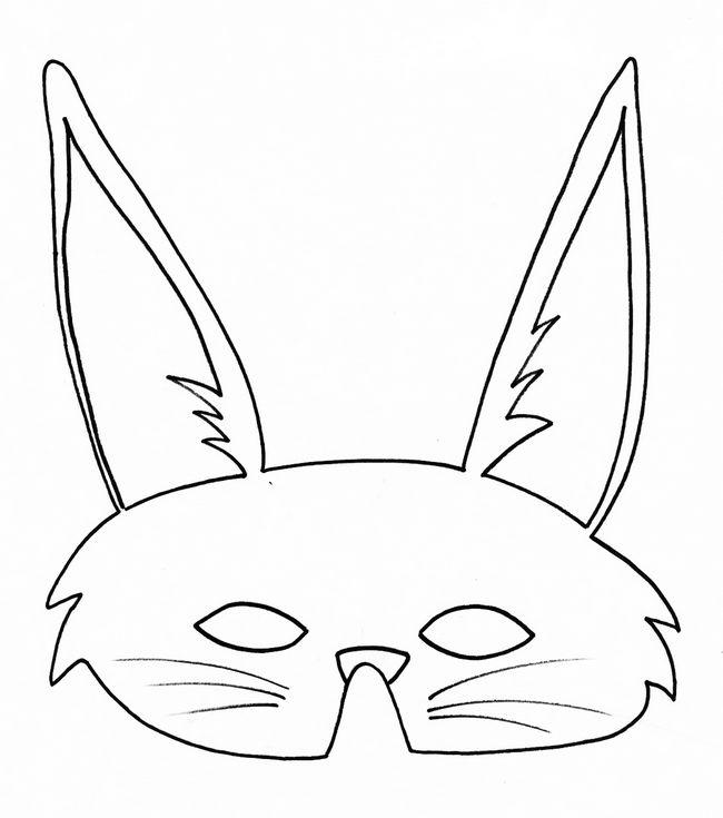 Ausmalbilder Ausschneiden Und Scrapbooking Bild Kaninchen Maske Mit