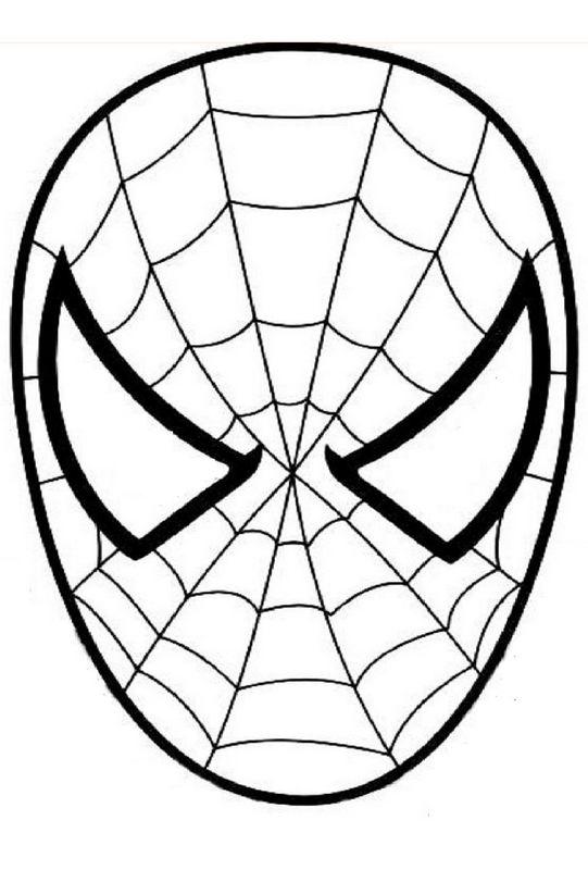 Ausmalbilder Ausschneiden Und Scrapbooking Bild Spiderman Den