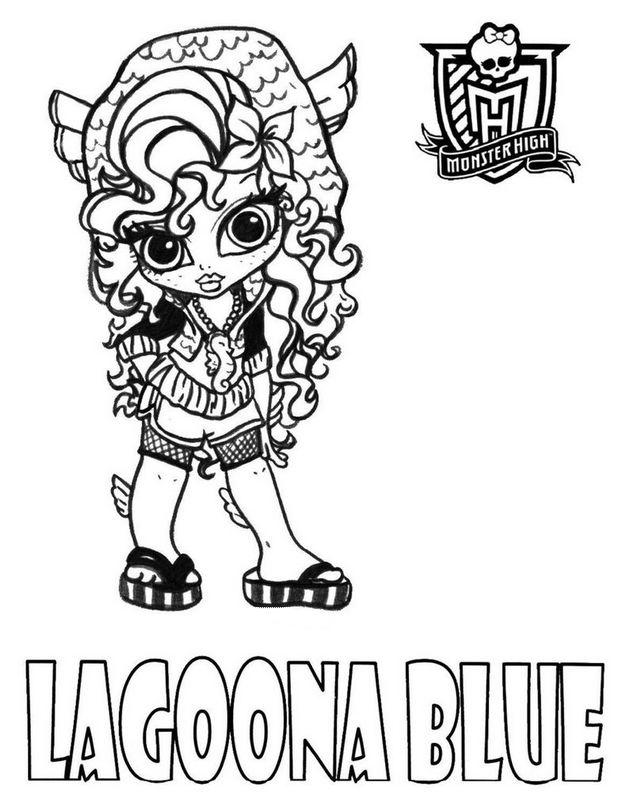Ausmalbilder Monster High, bild Kleine Lagoona Blue