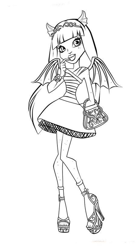 Ausmalbilder Monster High Bild Rochelle Goyle Gargoyle Aus Scaris