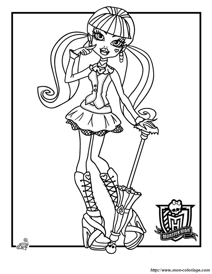 Ausmalbilder Monster High Bild Monster High 64