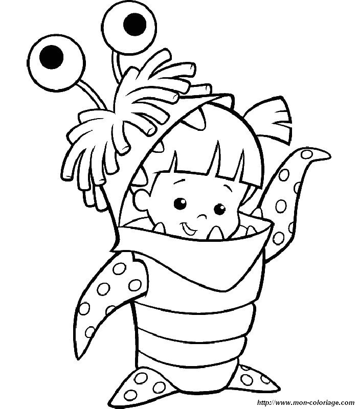 Ausmalbilder die monster ag bild 006 - Coloriage fillette ...