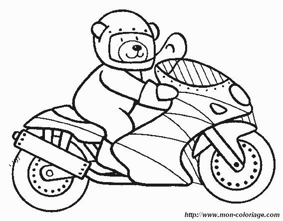 Ausmalbilder Motorrad Bild Motorrad 3