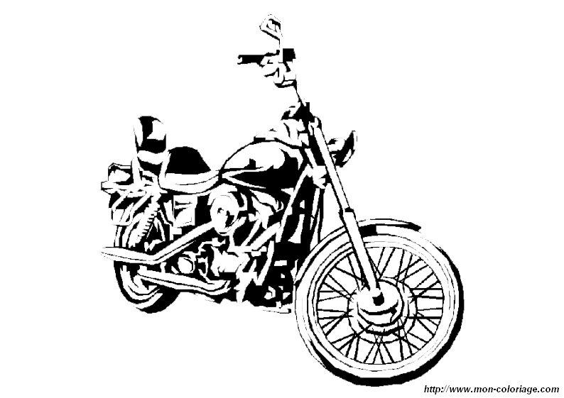 Ausmalbilder Motorrad, bild motorrad malvorlagen