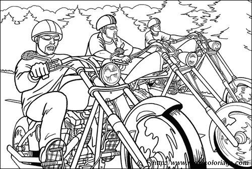 ausmalbilder motorrad  bild motorrad 04