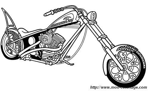 malvorlage motorrad chopper  coloring and malvorlagan