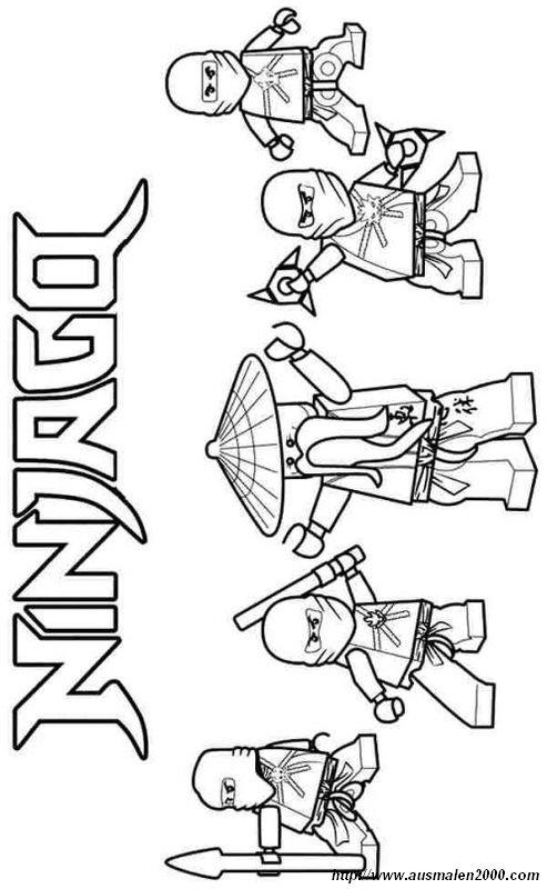ausmalbilder ninjago bild eine bewaffnete bande zum ausmalen