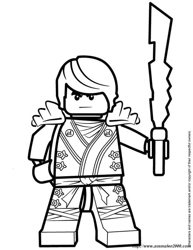 Ausmalbilder Ninjago, bild Jay der Kampfer