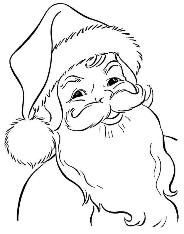Ausmalbilder Weihnachten Bild Weihnachtsmann Freundlich