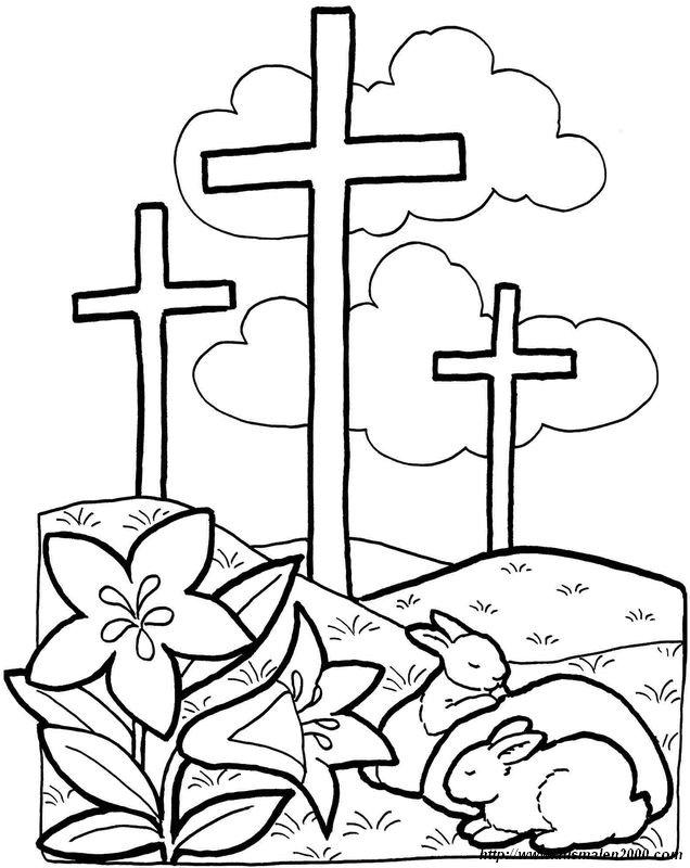 Ausmalbilder Ostern, bild Jesus ist auferstanden