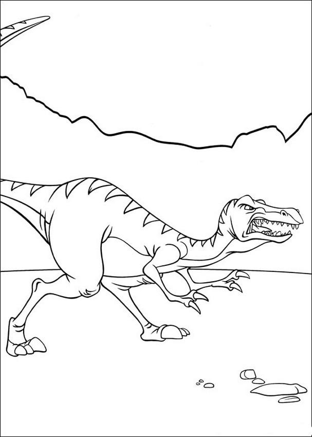 Ausmalbilder In Einem Land Vor Unserer Zeit Bild Dinosauriern In