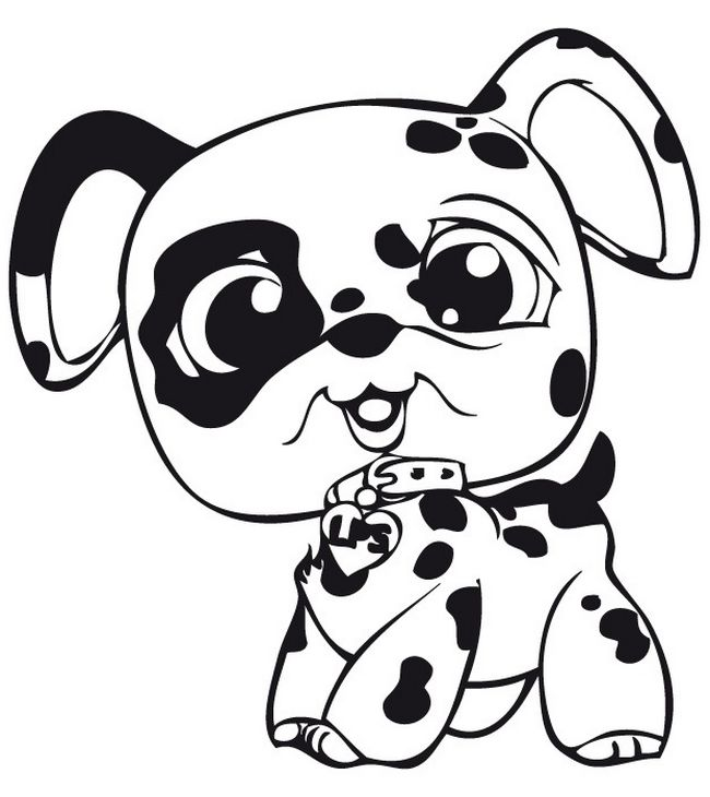 Ausmalbilder littlest pet shop bild littlest pet shop hund - Dessin a colorier petshop ...