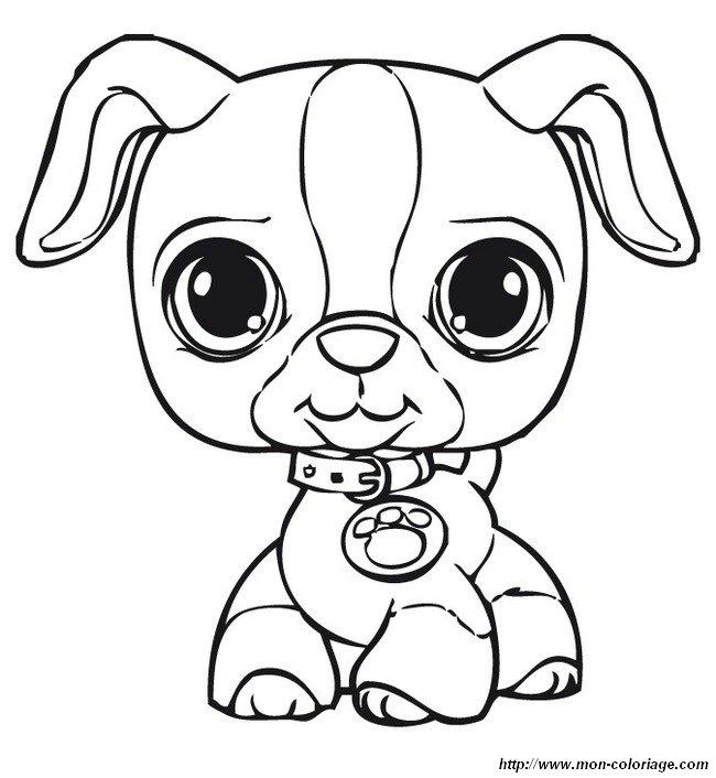 Ausmalbilder Littlest Pet Shop Bild Welpe Mit Einer Halskette