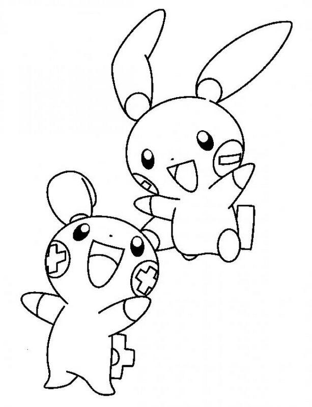 Ausmalbilder Pokémon, bild Die Kinder von Pikachu
