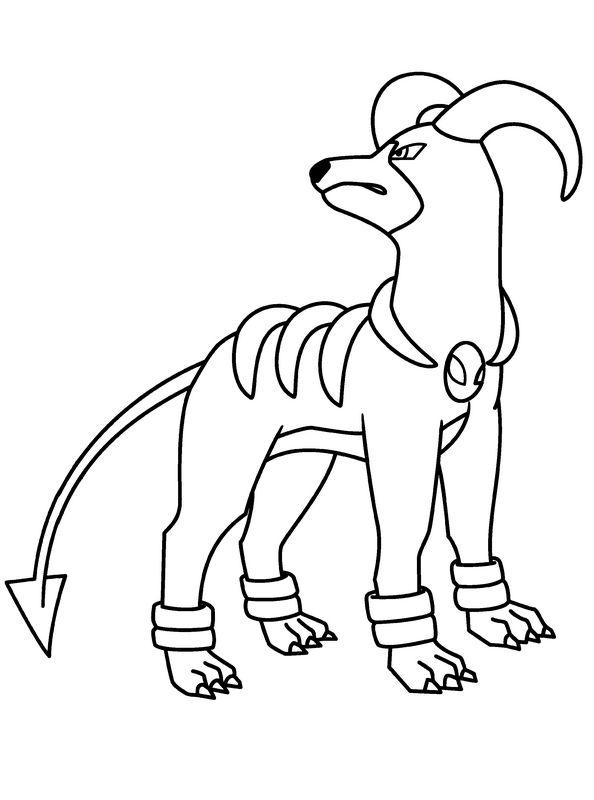 ausmalbilder pok u00e9mon  bild ein hund und ein drache