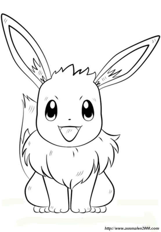 ausmalbilder pokémon bild ein kaninchen mit einem fuchs