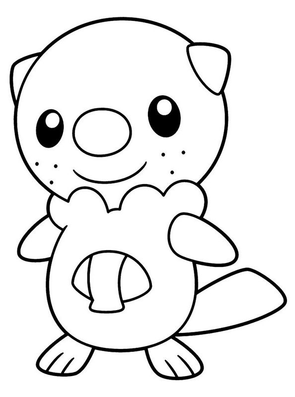 Ausmalbilder Pok 233 Mon Bild Ein Freundliches Pokemon Zum Ausmalen