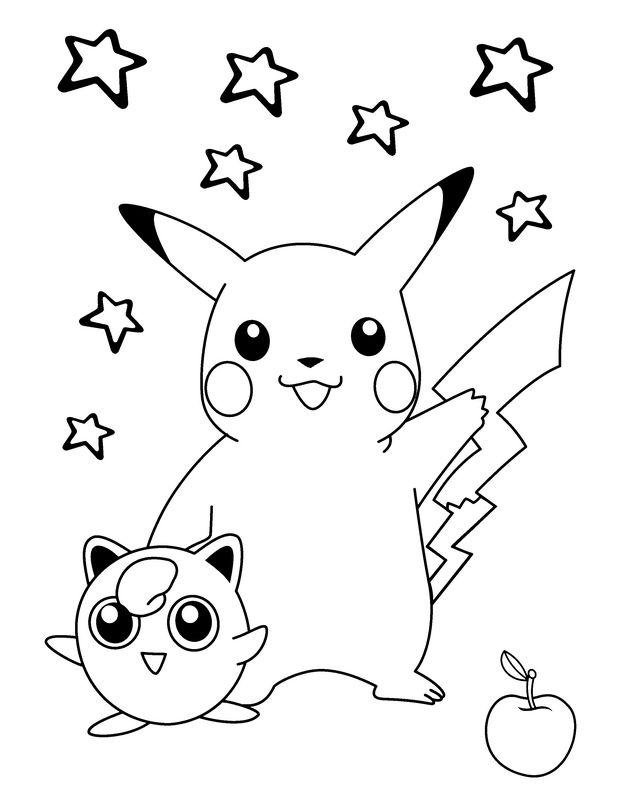 Ausmalbilder Pok 233 Mon Bild Pikachu Mit Seinem Freund