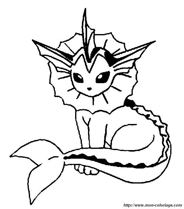 Ausmalbilder Pokémon Bild Aquana