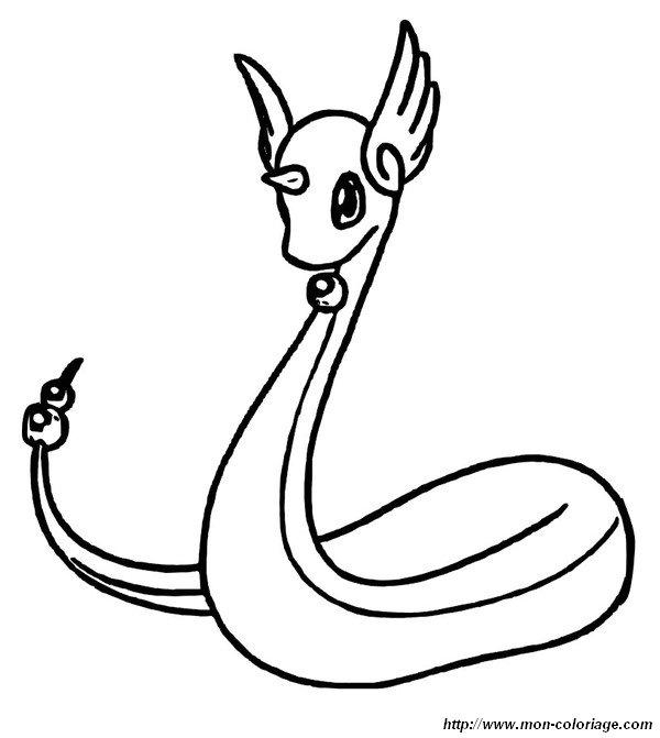 ausmalbilder pokémon bild dragonir