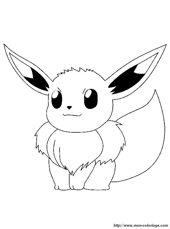 Ausmalbilder Pokémon Bild Evoli