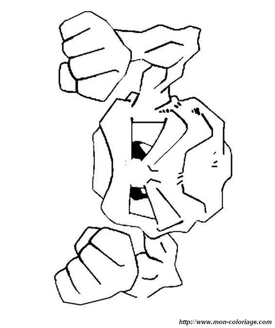 ausmalbilder pokémon bild kleinstein