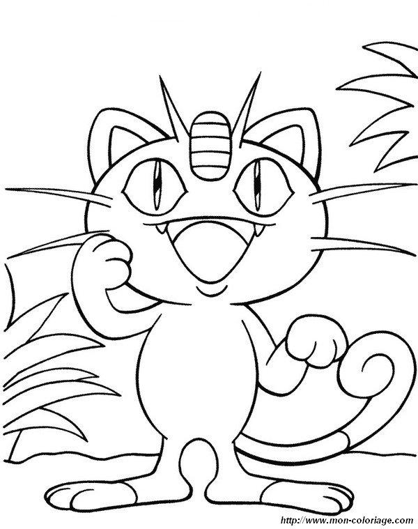 Ausmalbilder Pokémon Bild Mauzi