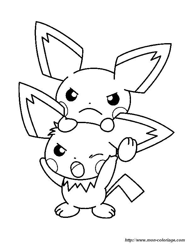 Ausmalbilder Pokémon Bild Pichu