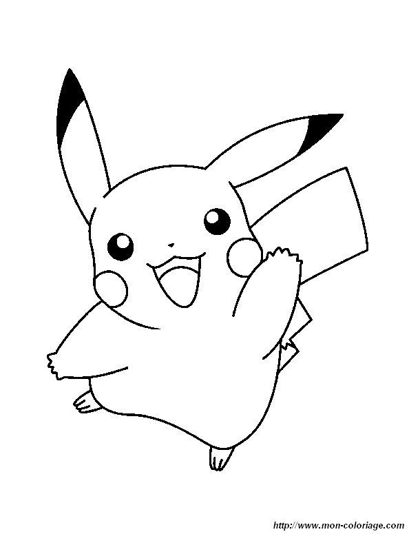 Ausmalbilder Pokémon Bild Pikachu 2