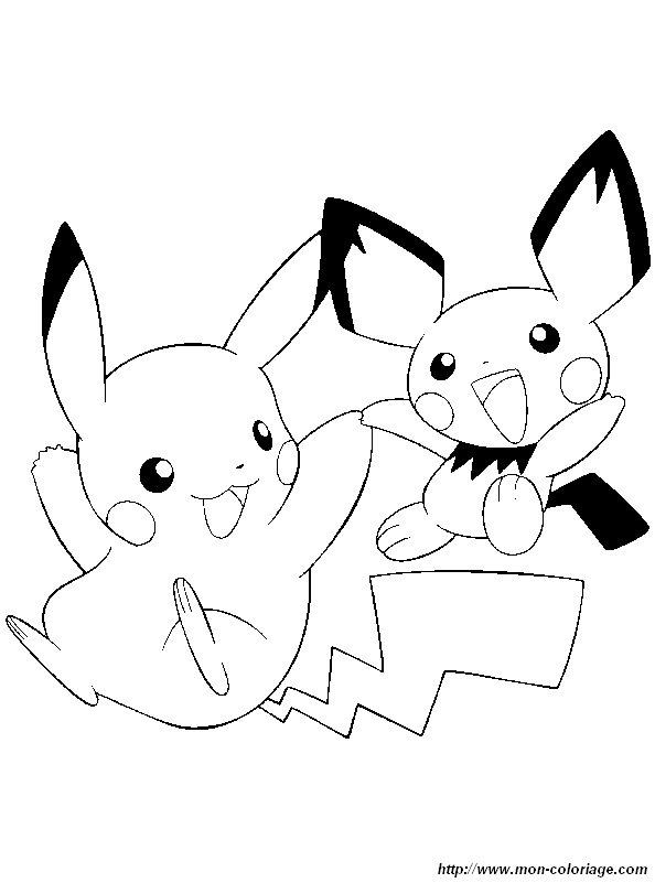 Ausmalbilder Pokemon Bild Pikachu Pichu