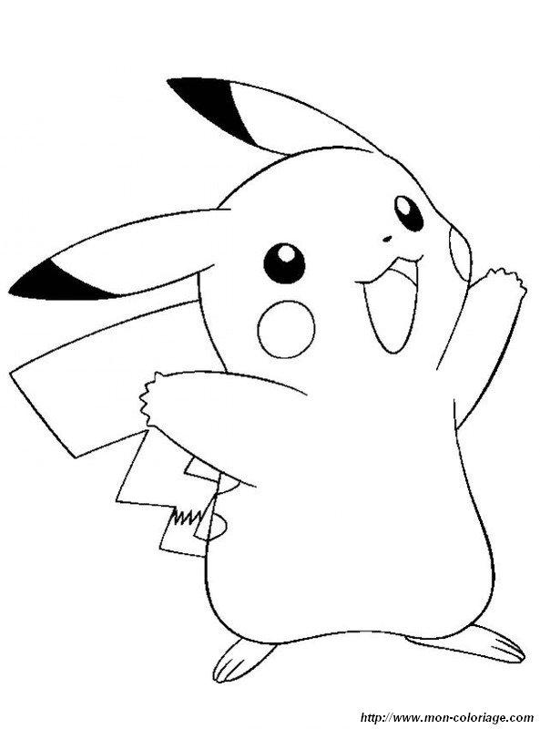 ausmalbilder pokémon bild pikachu wer lachelt