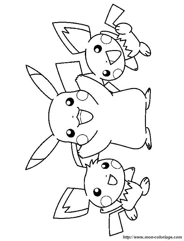 Ausmalbilder Pokémon, bild pikachu