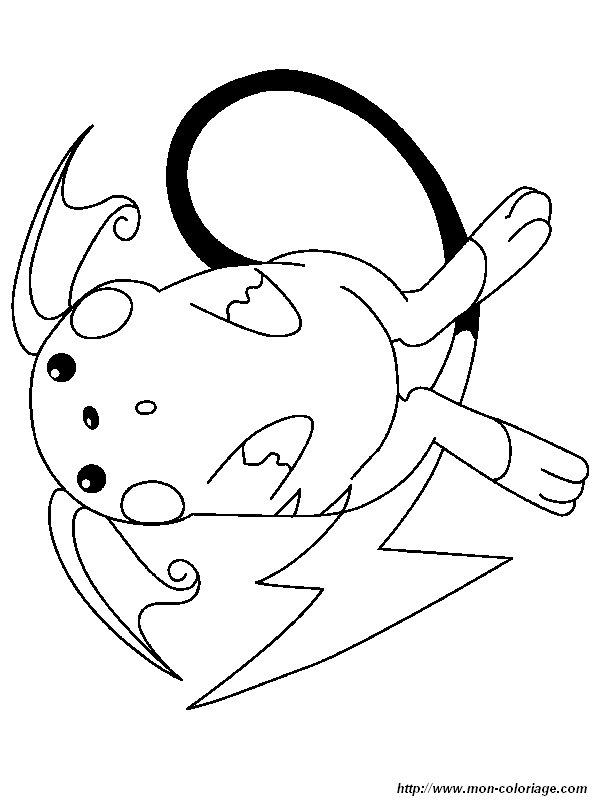 Ausmalbilder Pokémon Bild Raichu
