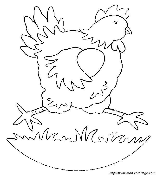 ausmalbilder hühner bild henne 01