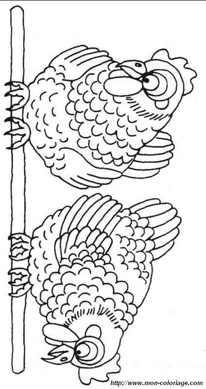 ausmalbilder hühner bild henne 06