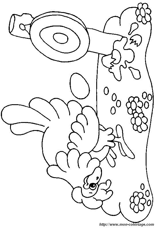 ausmalbilder hühner bild henne 026