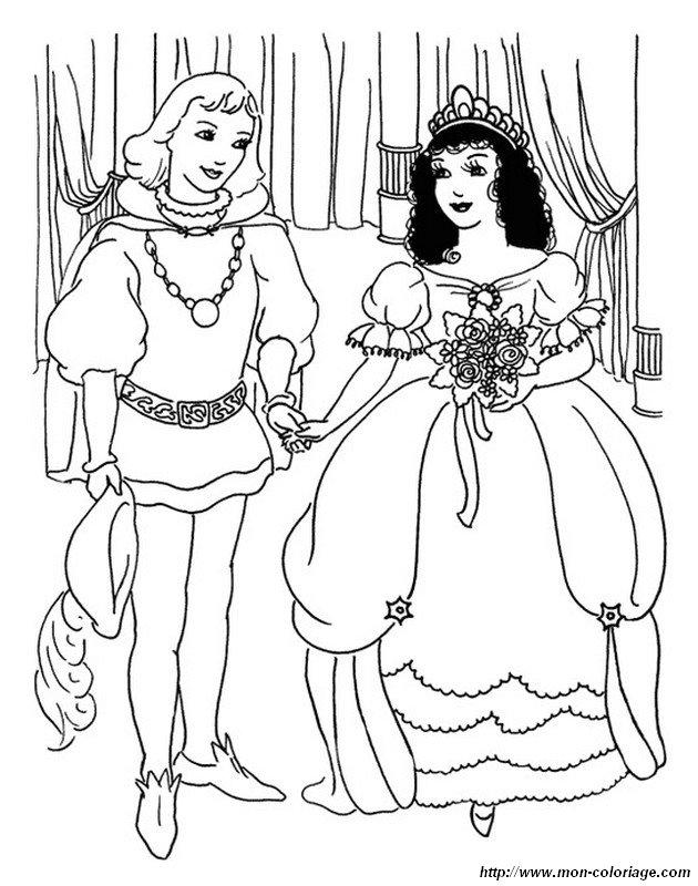 Malvorlage Prinzessin Mit Prinz Hochzeit Coloring And Malvorlagan