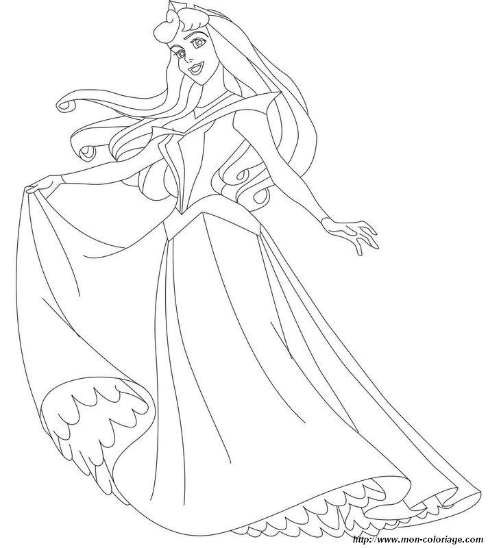 Ausmalbilder Prinzessin Prinz Bild Dornroschen