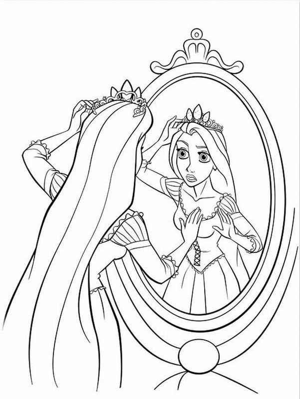Ausmalbilder Rapunzel Bild Eine Disney Prinzessin