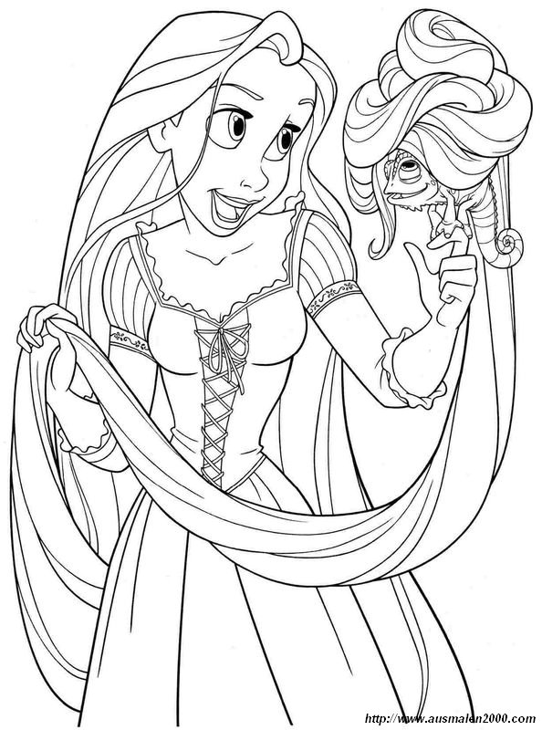 Ausmalbilder Rapunzel Bild Pascal Ist Ziemlich