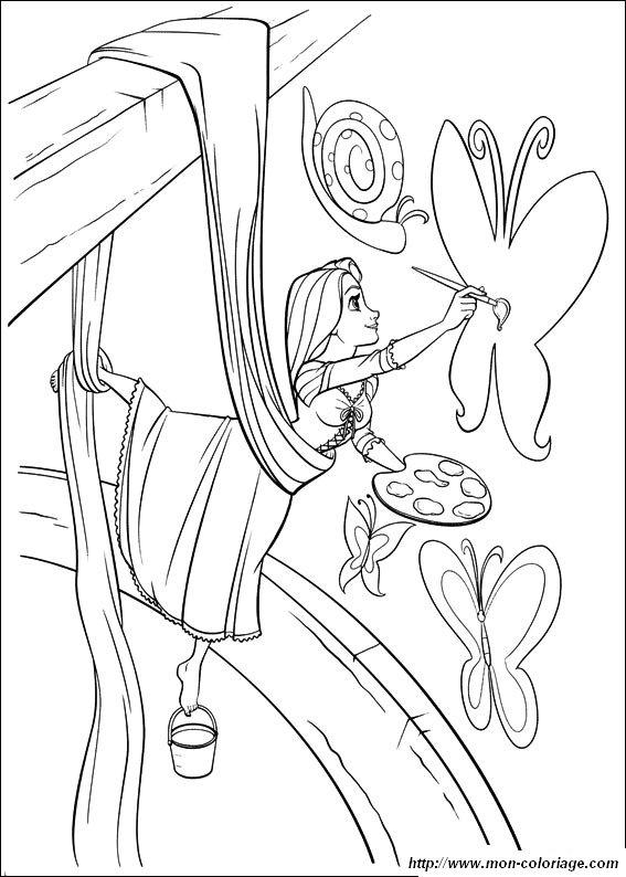 ausmalbilder rapunzel, bild rapunzel