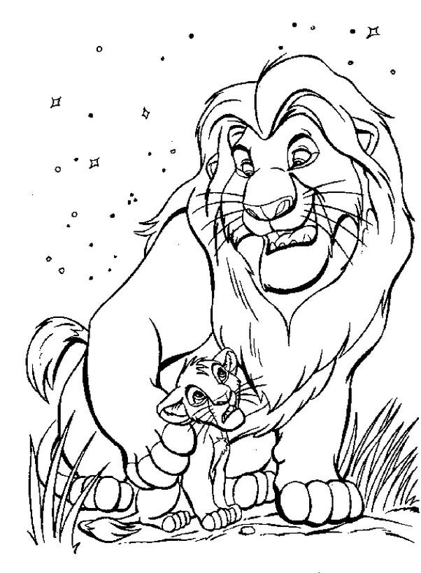 Ausmalbilder Der Nig Wen Bild Mufasa Sein Sohn