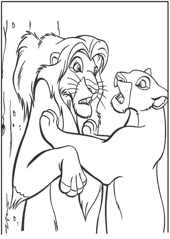 Ausmalbilder Der König Der Löwen Bild Nala Ist Sehr Stark