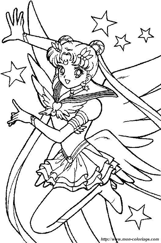 Ausmalbilder Sailor Moon Bild Sailor Moon In Den Sternen