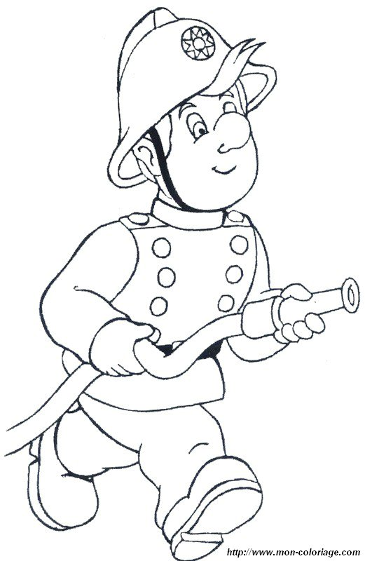 coloring pages fireman sam - ausmalbilder feuerwehrmann sam bild er geht zum feuer